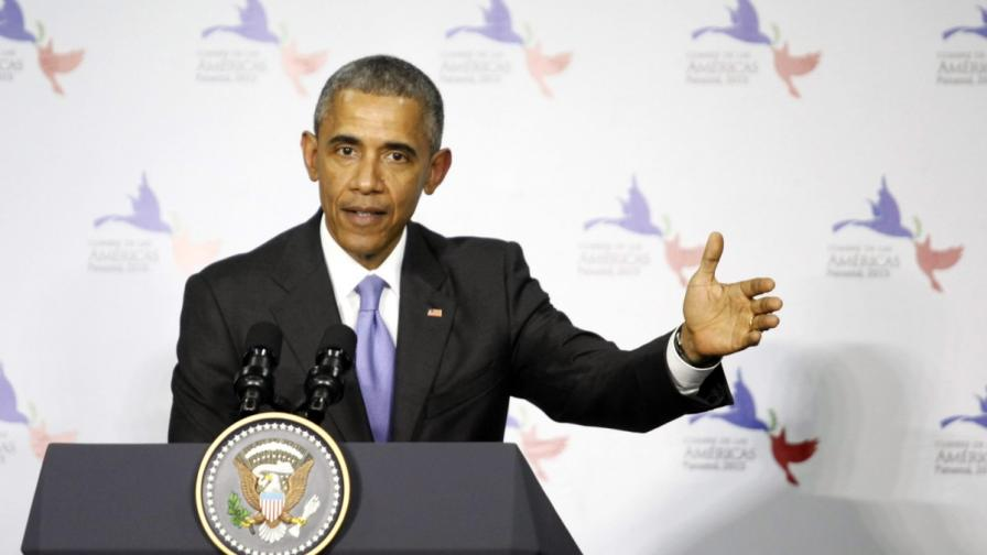 Президентът на САЩ Барак Обама на срещата на Америките