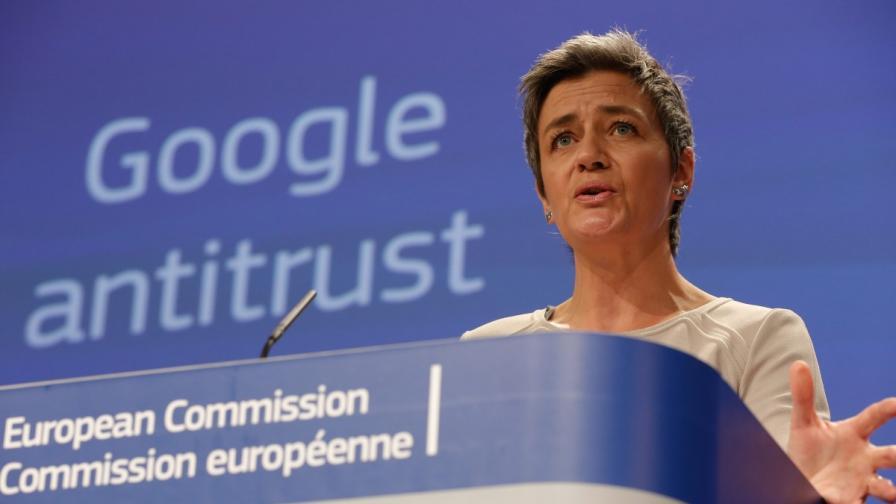 """Европейската комисия започна разследване срещу """"Гугъл"""""""