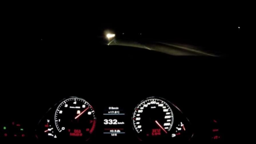 Кой кара с 333 км/ч по двулентов път? (видео)