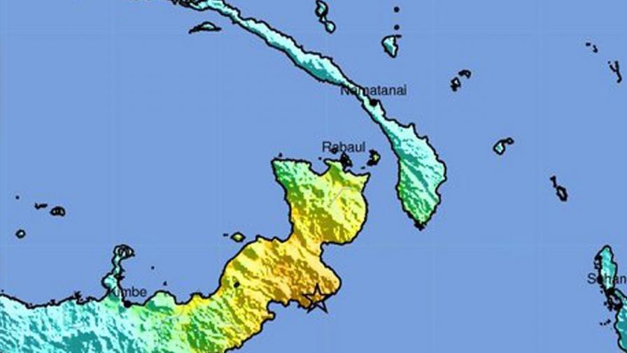 Земетресение с магнитуд 7,4 разтърси Папуа-Нова Гвинея