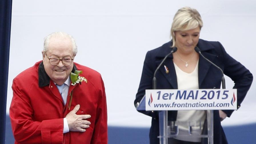 Жан-Мари льо Пен и дъщеря му Марин льо Пен