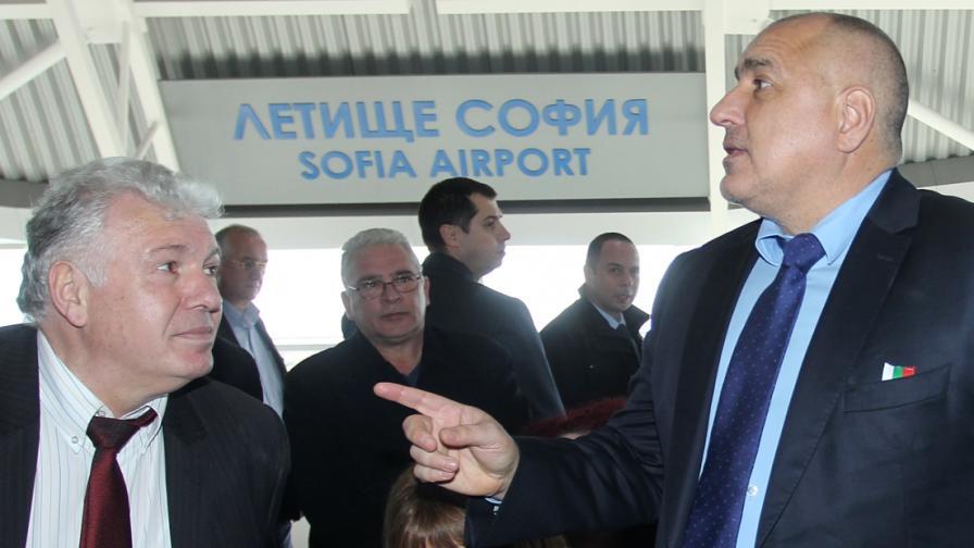 """Премиерът Бойко Борисов и шефът на """"Метрополитен"""" инж. Стоян Братоев"""