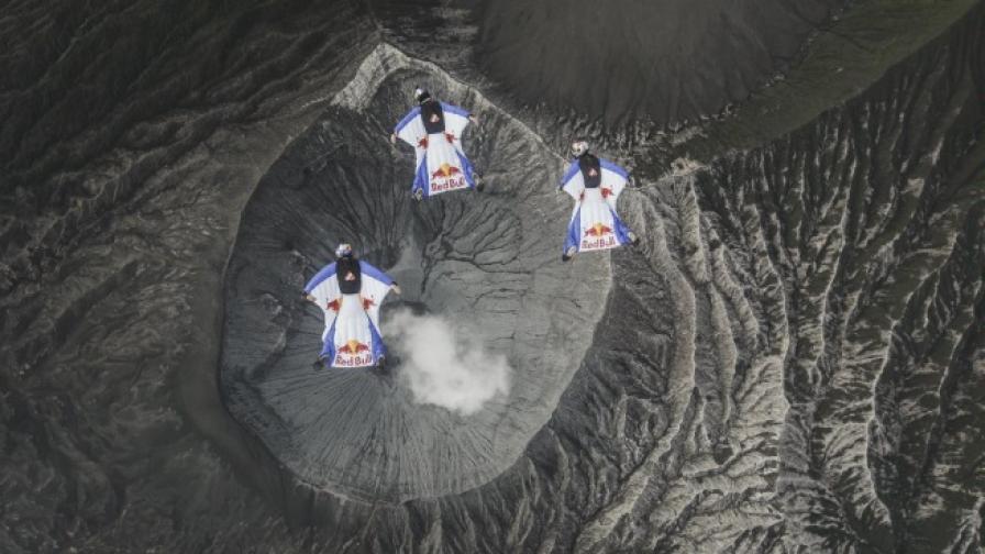 Скок над активен вулкан (видео)