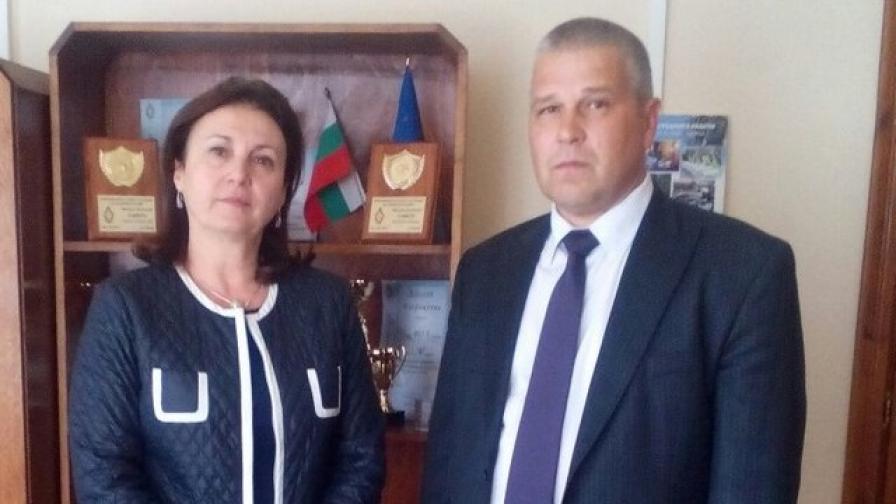 Румяна Бъчварова с шефа на МВР Варна