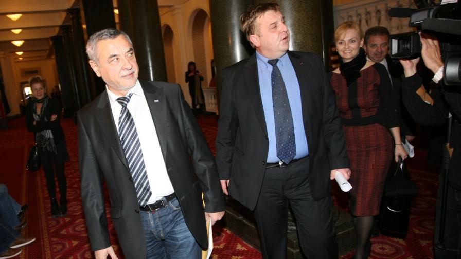 Валери Симеонов и Красимир Каракачанов