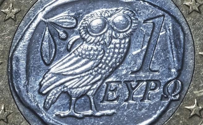 Совата - символ на мъдростта, която краси евро монетите, сечени в Гърция