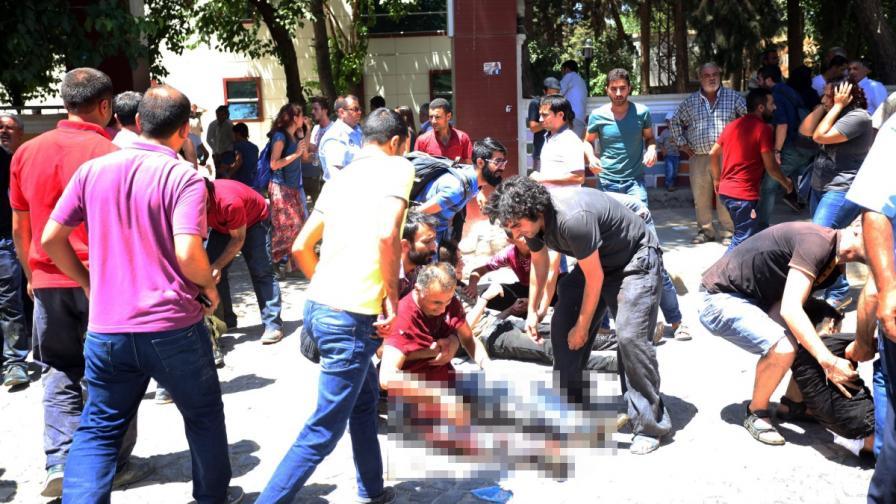Турция: 28 души загинаха при експлозия в град Суруч