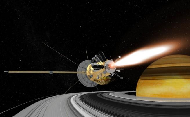 """Апаратът """"Касини"""" и Сатурн"""