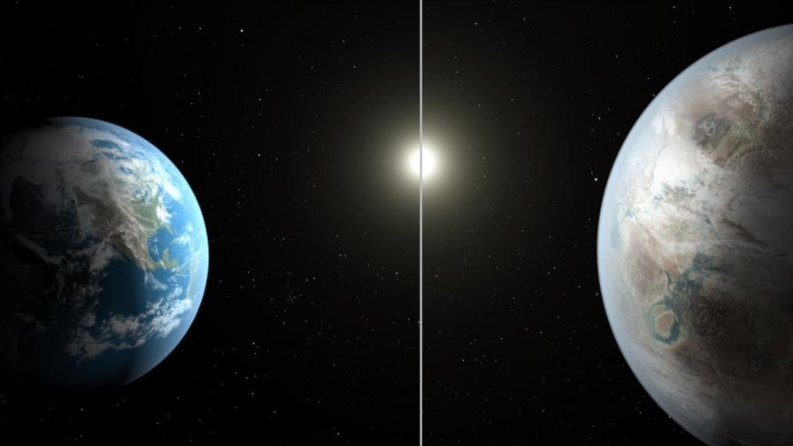 Земята сравнена с новата планета