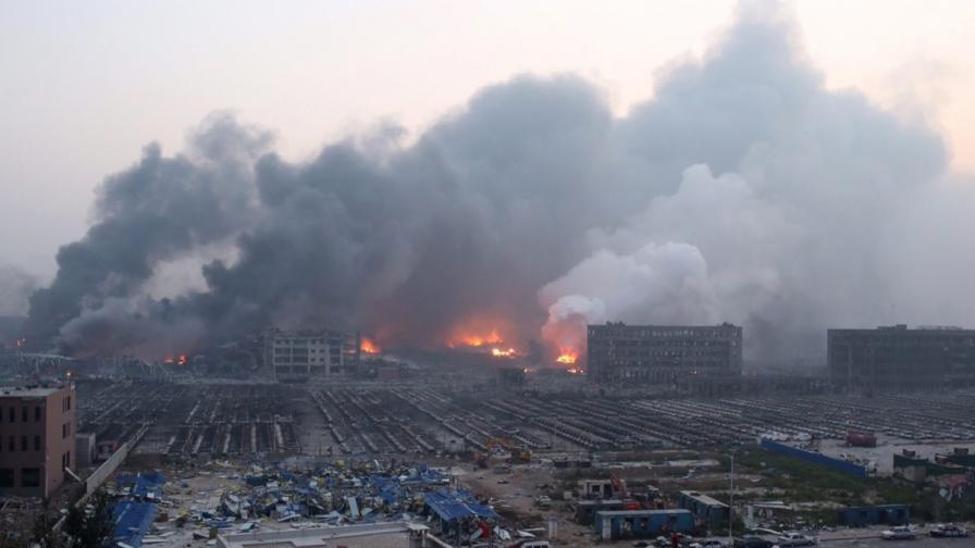 Стотици ранени при експлозия в Тиендзин