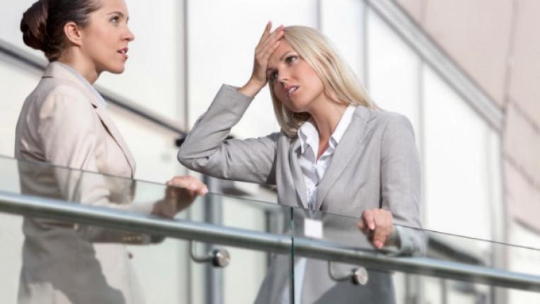 жена стрес работа главоболие притеснение