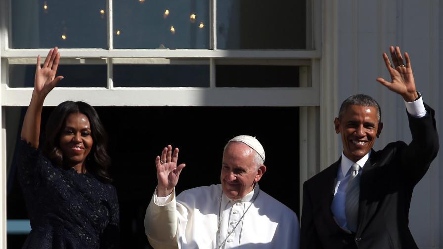 Президентът на САЩ Барак Обама се срещна папа Франциск в Белия дом