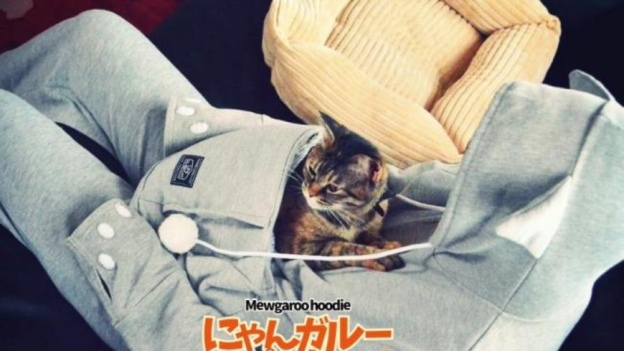 Дреха с джоб за котки - новият хит в Япония