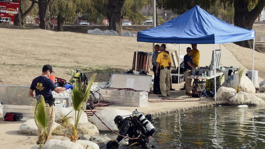 ФБР претърсва езеро в Сан Бернардино, издирва харддиск