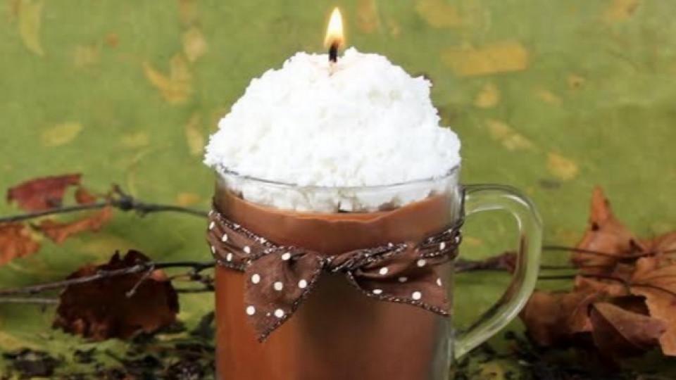 Как да си направим свещ като горещ шоколад със сметана