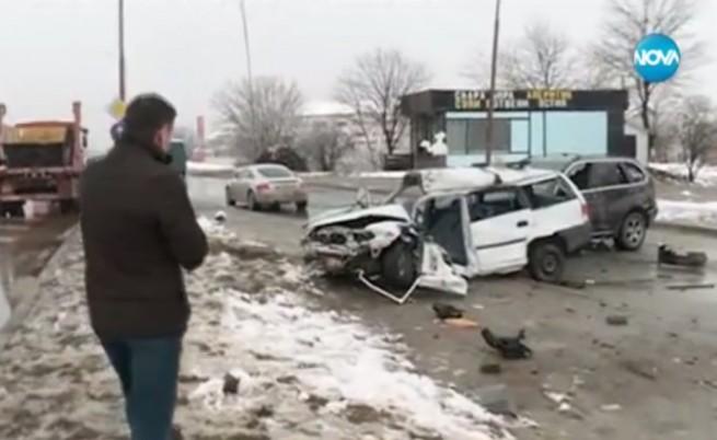 Тежка катастрофа в София, един загинал