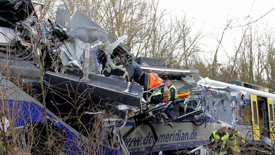 Човешка грешка е причина за влаковия инцидент в Германия
