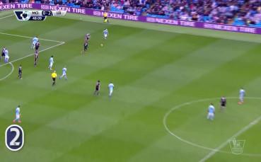 Риад Марез за 2:0 за Лестър срещу Манчестър Сити
