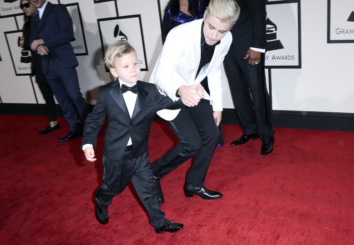 Джъстин Бийбър заедно с малкия си брат
