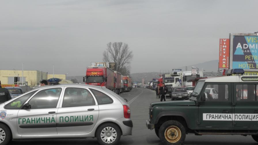 Контра-блокадата на КГПП Кулата от страна на българските превозвачи