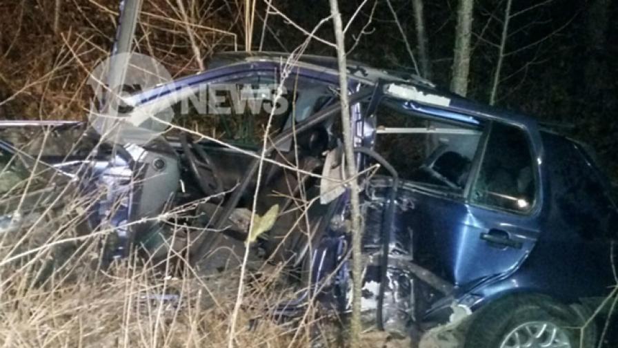 Един загинал и трима ранени в катастрофа край Свиленград