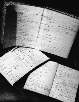 Работните дневници на Мария и Пиер Кюри