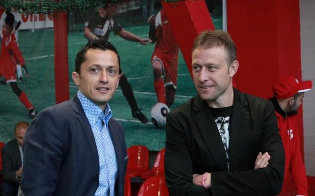Бившите футболисти и треньори на ЦСКА Христо Янев и Владимир