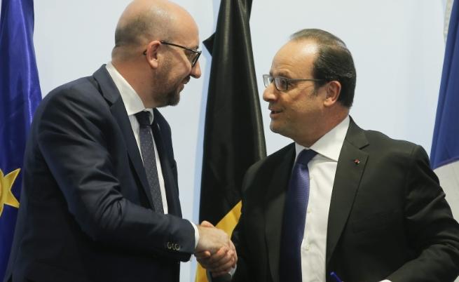 Франсоа Оланд и Шарл Мишел