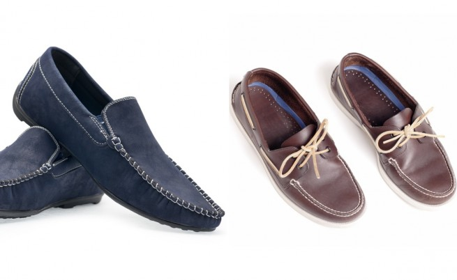 Мокасини и обувки тип лодка