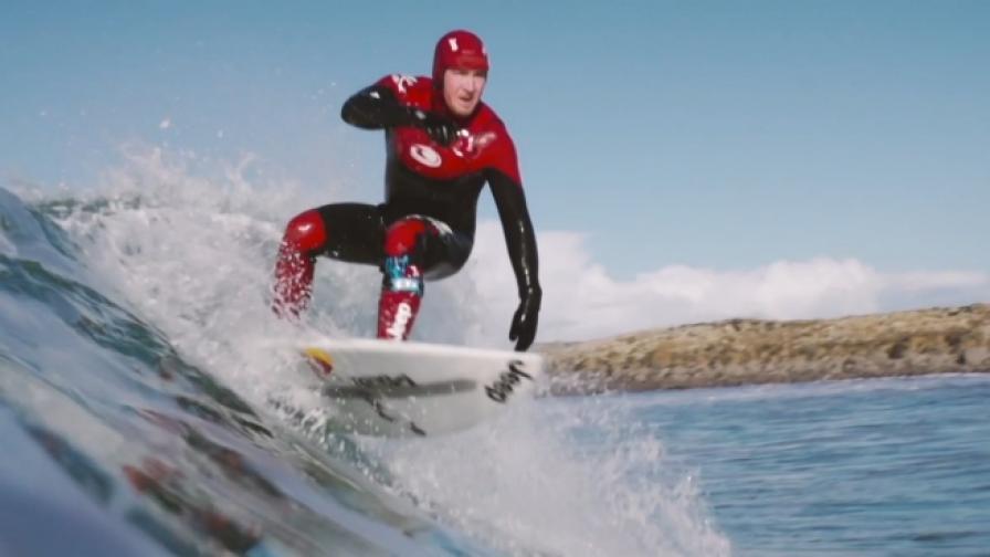 Сърфиране из Дивия атлантически път в Ирландия