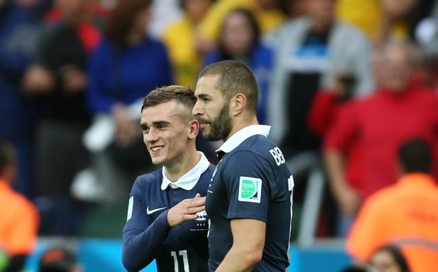 Антоан Гризман и Карим Бензема<strong> източник: Gulliver/Getty Images</strong>