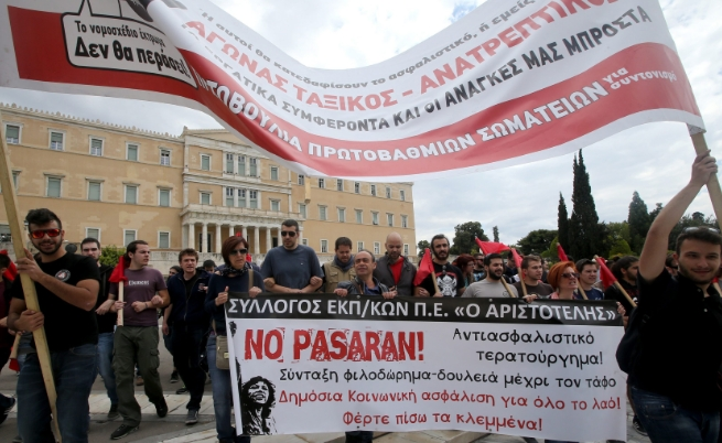 10 автобуса с българи не могат да напуснат Гърция заради стачката