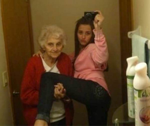 Секси селфи с баба