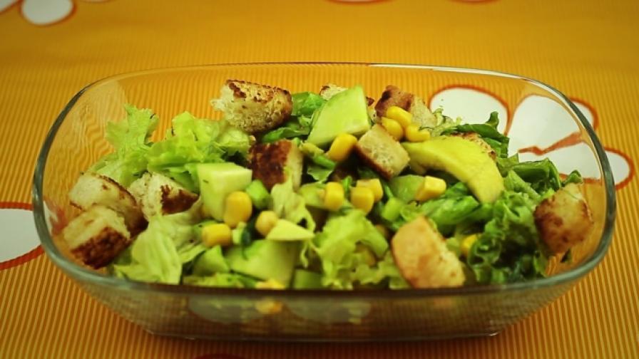 Вкусна салата с авокадо (видео)