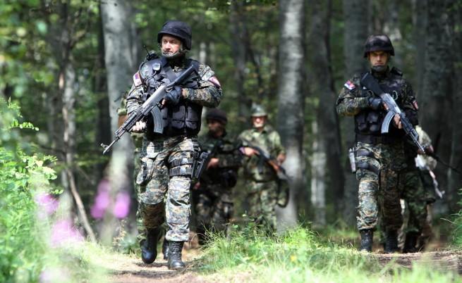 Сръбски патрул на границата с България