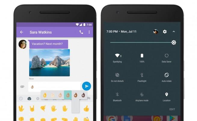 Обновеният интерфейс на Android 7 Nougat