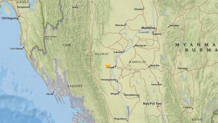 Мощен трус от 6,8 по Рихтер разтърси Мианмар
