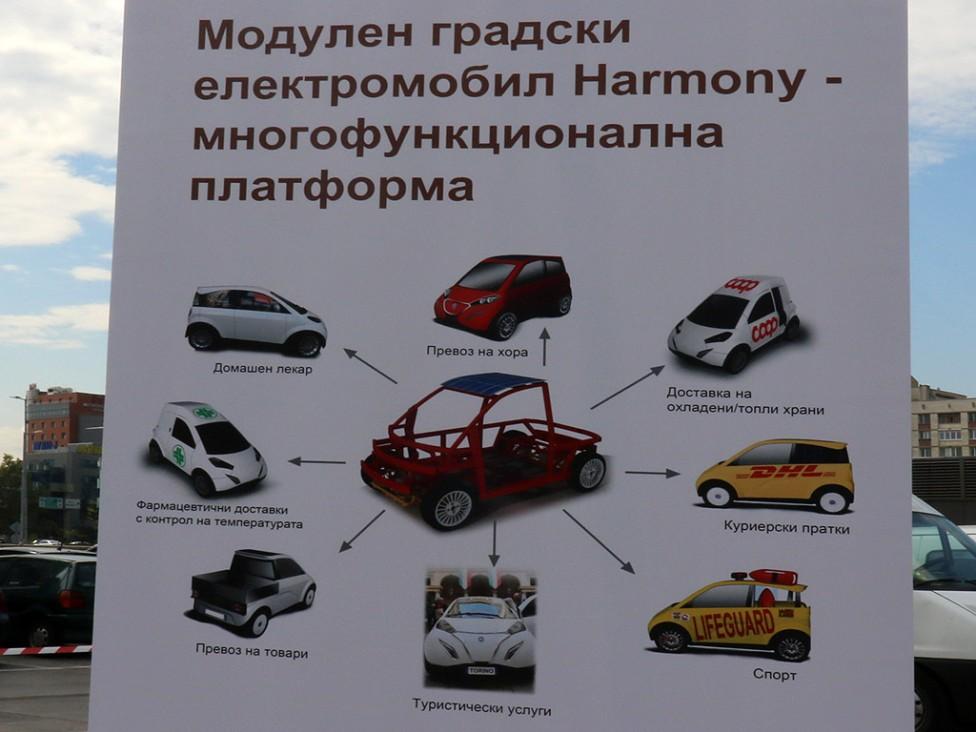 - Тест драйв на електро автомобили и представяне на проект за първия български електромобил Harmony (Хармони)