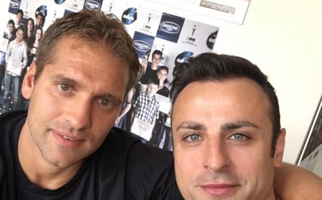 Димитър Бербатов и Стилиян Петров източник: facebook.com/berbatov.bg