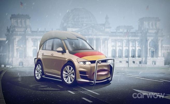 Ангела Меркел е VW Golf.