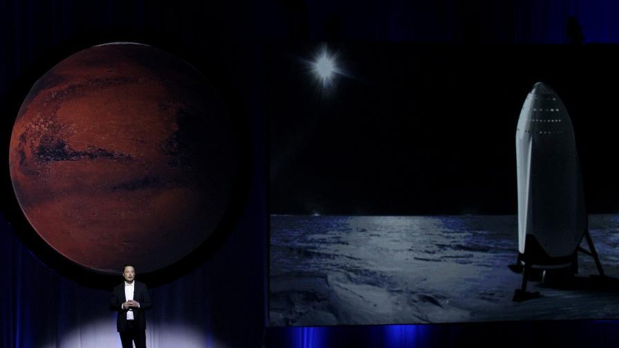 Мъск иска стотици роботи-миньори на Марс