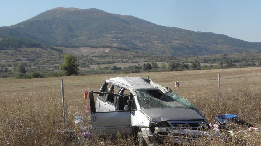 Две жертви и трима ранени след катастрофа край Монтана