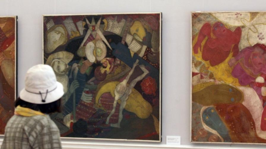 Художникът с име на император с изложба в София