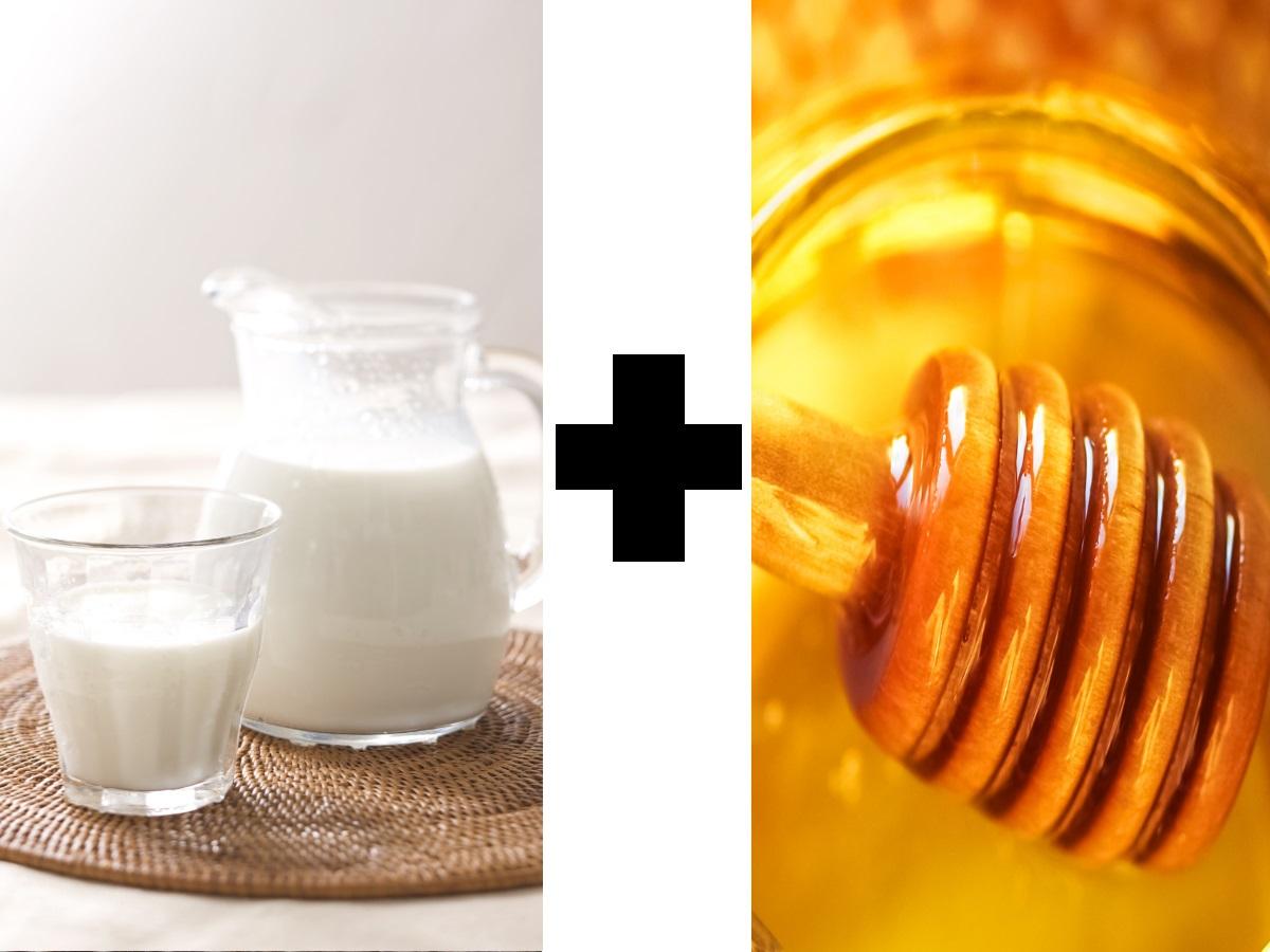 Друго много подходящо съчетание е на мляко и мед. Млякото съдържа аминокиселината триптофан, която изгражда два хормона в мозъка - серотонин и мелатонин. Въглехидратите, като тези в меда, улесняват усвояването на триптофана, защото освобождаването на инсулин намалява съперничеството на други аминокиселини.