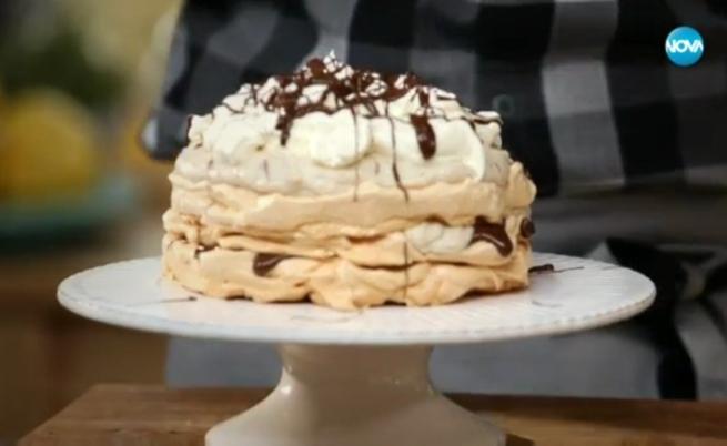 Целувчена торта с крем от кестени