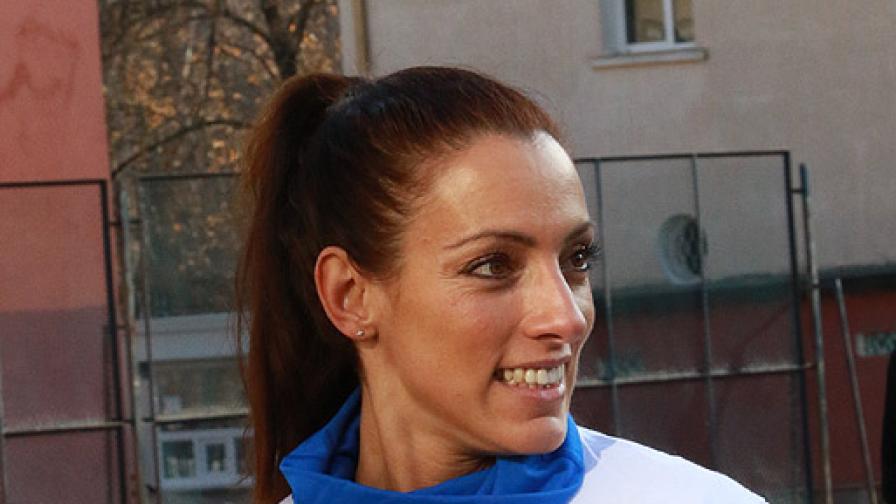 Ивет Лалова в символичен спринт срещу диабета с участието на децата от 119 СОУ в София
