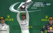Емоциите от подиума след Гран При на Бразилия