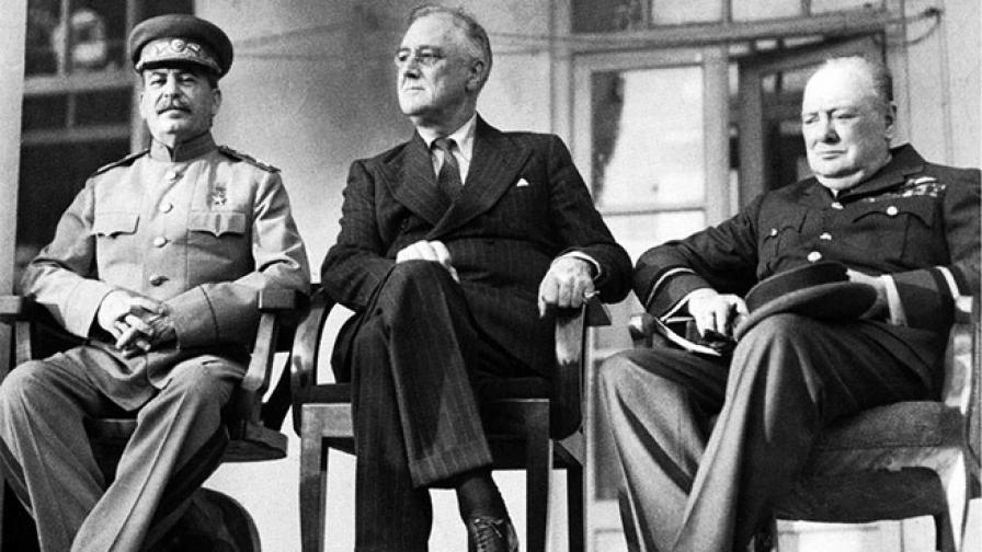 """Срещата на """"тримата големи"""" в Техеран"""