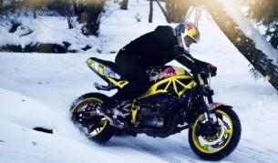 Да караш мотор в снега