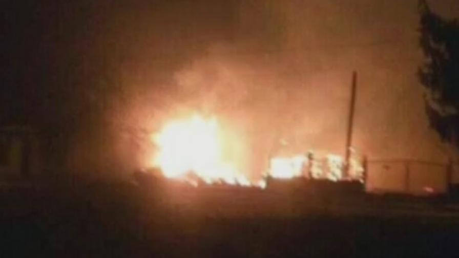 Нови кадри показват момента на взрива в Хитрино